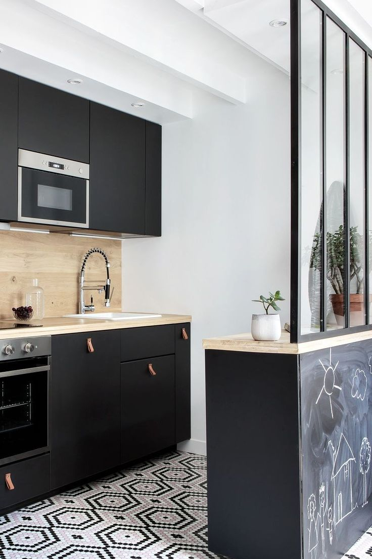 Id e d coration salle de bain cuisine industrielle avec Salle de bain avec meuble cuisine