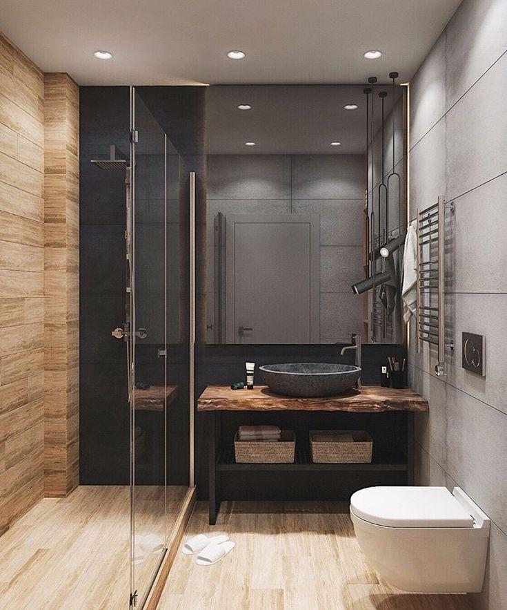 nous aimons bien la tablette de bois et la vasque. Black Bedroom Furniture Sets. Home Design Ideas