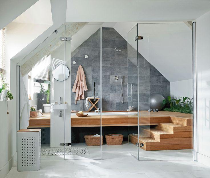 Idée décoration Salle de bain - Un espace spa sous les combles ...