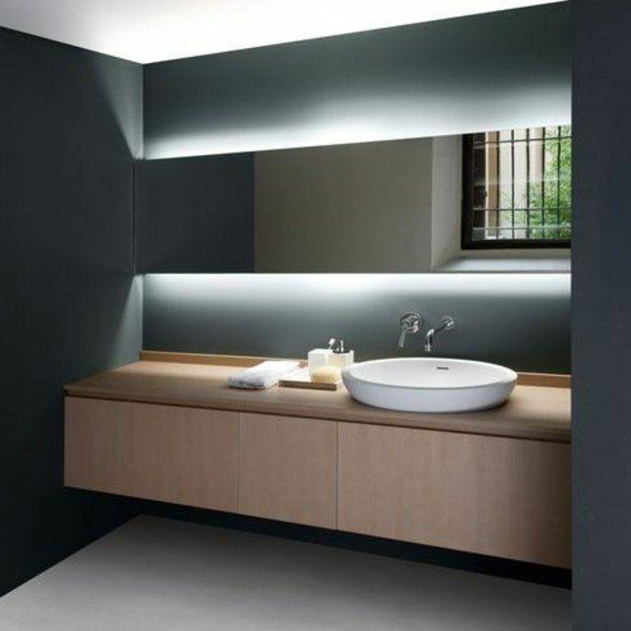 Idée décoration Salle de bain - jolie salle de bain avec éclairage ...