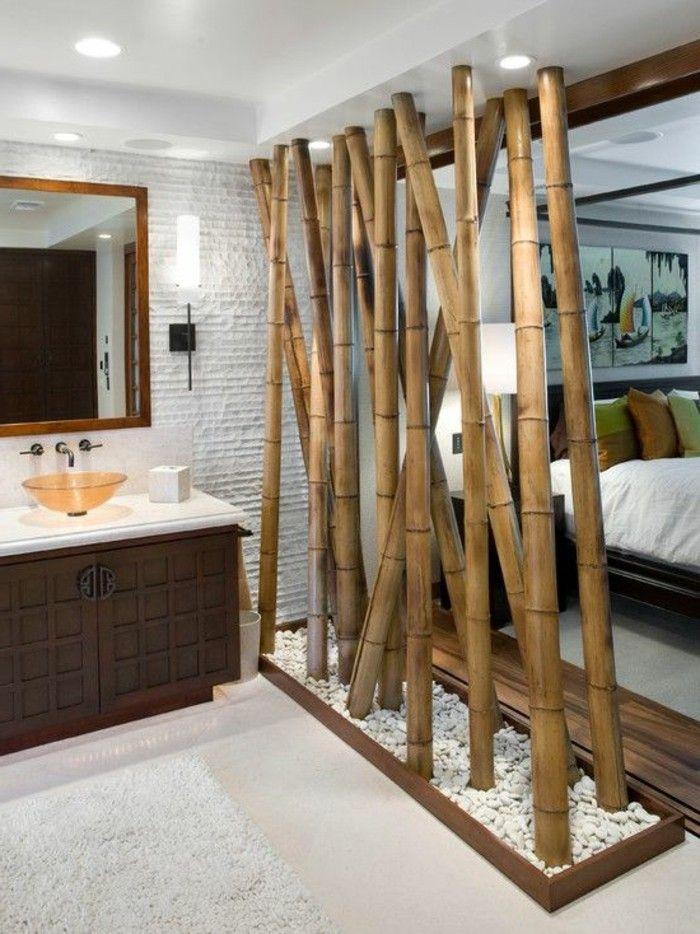 Superieur Description. Jolie Salle De Bain Bien Décorée En Bambou ...