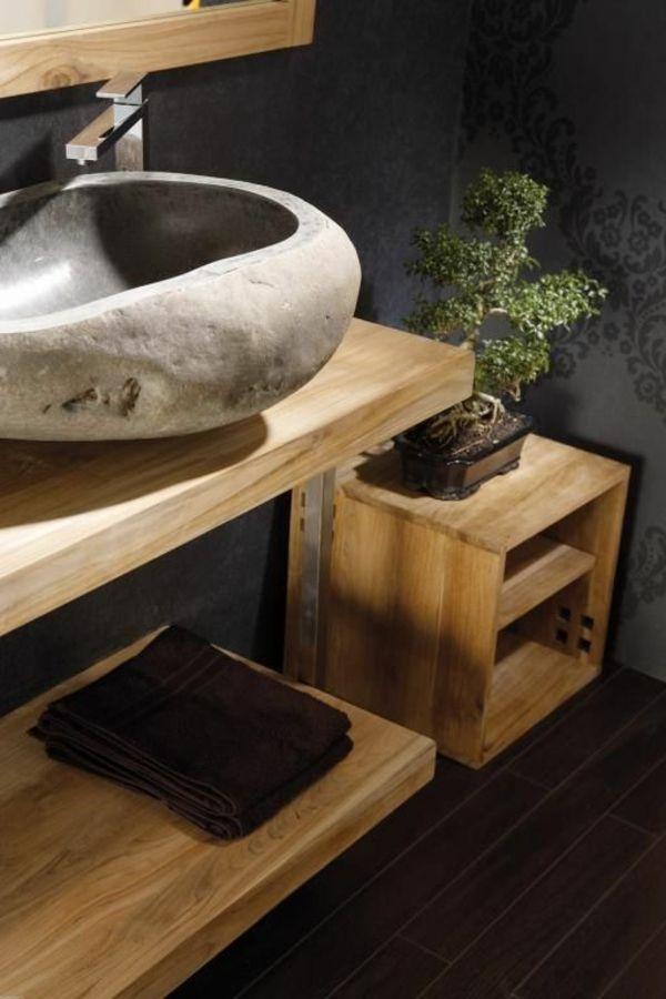 id e d coration salle de bain vasque en pierre designs. Black Bedroom Furniture Sets. Home Design Ideas