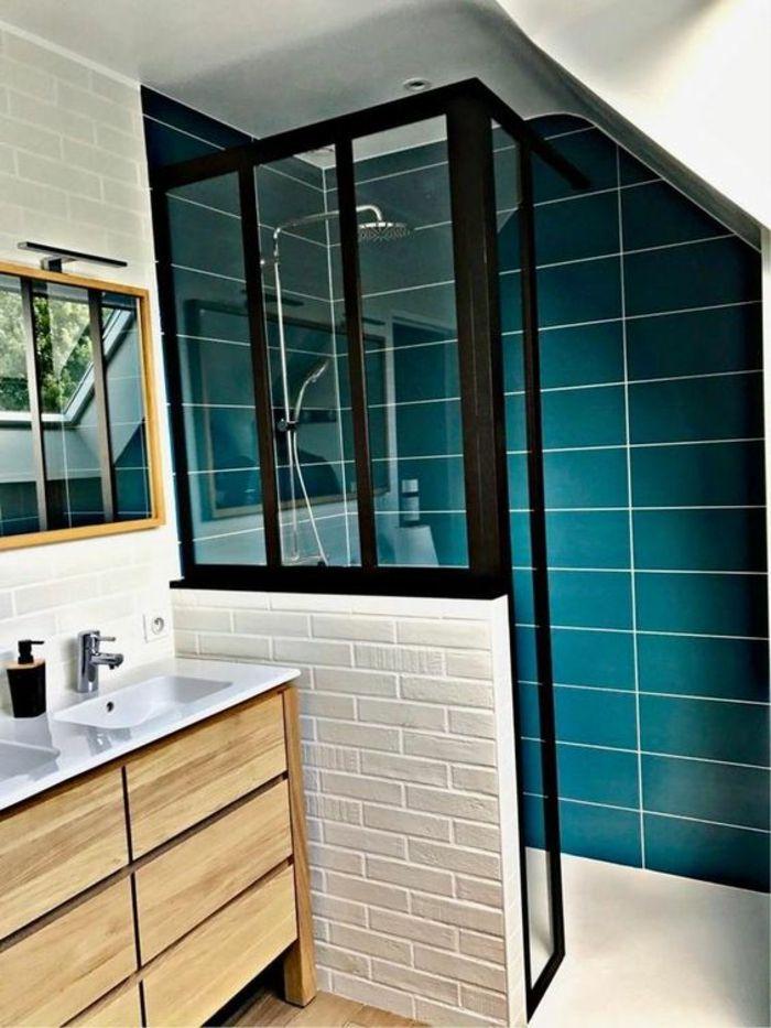 Idée décoration Salle de bain - verriere douche, porte ...