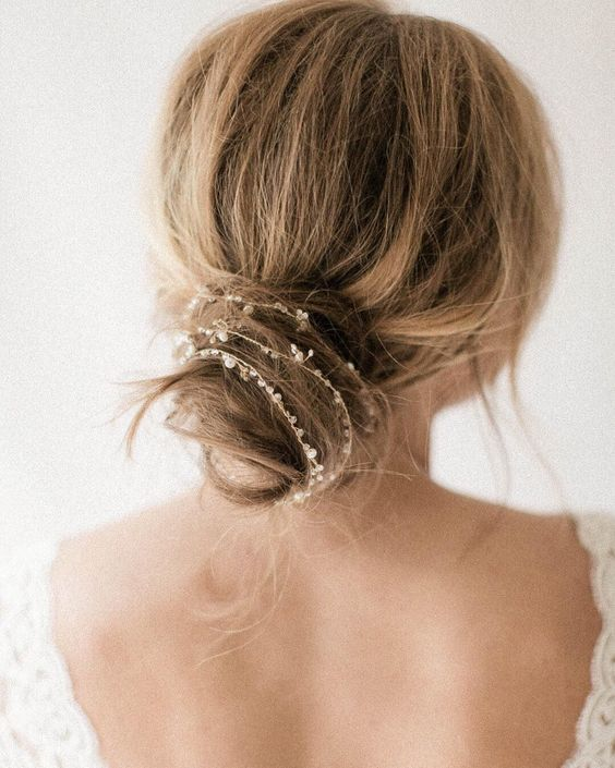 Idées Coupe cheveux Pour Femme 2017 / 2018 - 30 coiffures de mariage nuptiales à essayer ...