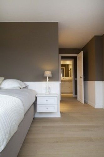 Déco Salon - Une chambre taupe et blanc c\'est zen ...