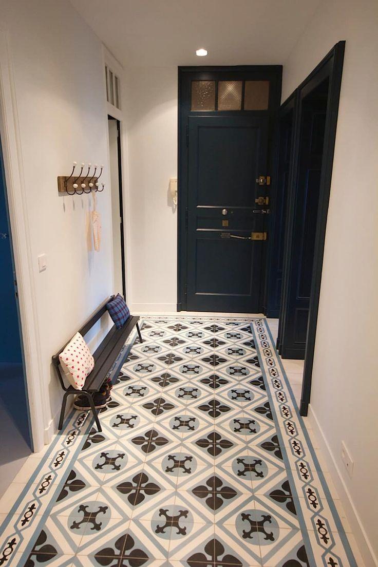 Déco Salon - Une entrée en carreaux de ciment: Couloir, Entrée ...
