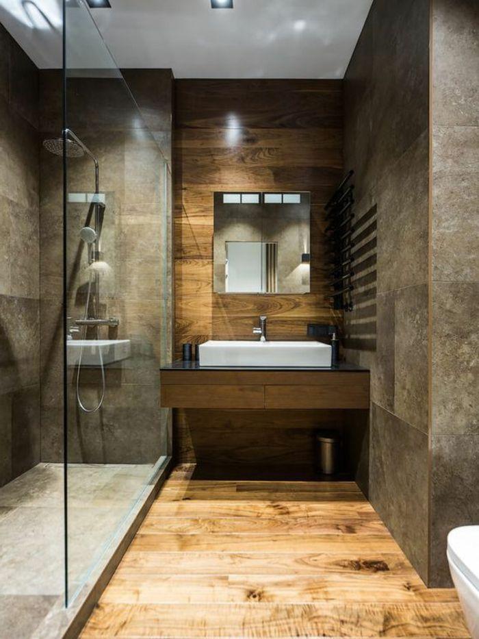Id e d coration salle de bain idee salle de bain - Deco salle de bain bois ...