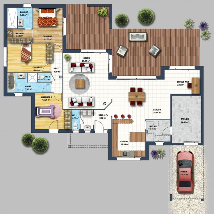 Plans Maison En Photos 2018 - constructeur maison moderne la baule les pins loire atlantique 44 ...