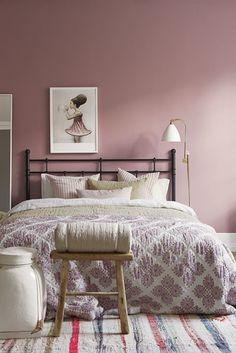 Déco Salon - couleur peinture chambre - rose poudré romantique et ...