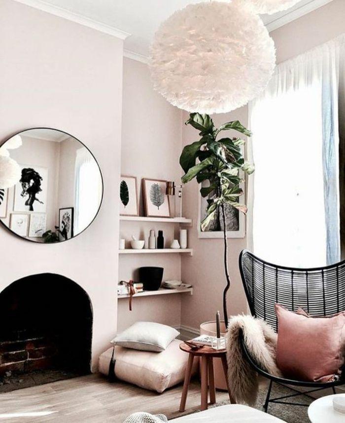 Déco Salon - quelle couleur associer au gris, fauteuil en métal noir ...