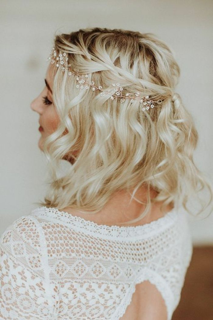 Coiffures de mariage modernes pour cheveux courts
